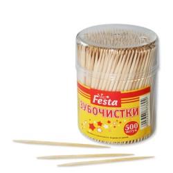 ФИЕСТА Зубочистки в банке 500шт