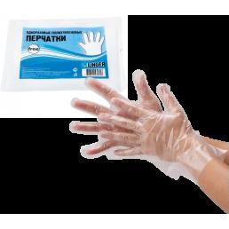 LINGER Перчатки одноразовые полиэтиленовые 100шт L