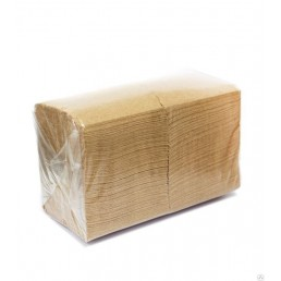 DO ECO Салфетки бумажные 24х24см 1сл 400шт Крафт