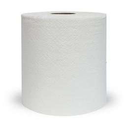ПЛЮШ Полотенца бумажные белые с перфорацией 2сл 200м