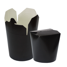 CHINA PACK Коробочка для лапши 750мл Черная