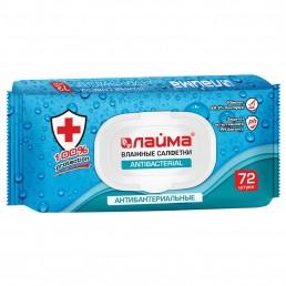 ЛАЙМА Влажные салфетки 72шт Антибактериальные