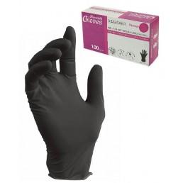 HOUSEHOLD GLOVES Перчатки нитриловые неопудренные 100шт M Черные
