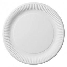 Тарелка бумажная д-230мм 50шт Белая