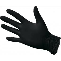 KLEVER Перчатки нитриловые неопудренные 100шт L Черные