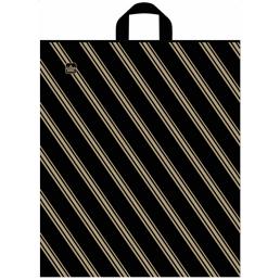 Пакет с петлевой ручкой 44х40см Золотая полоса