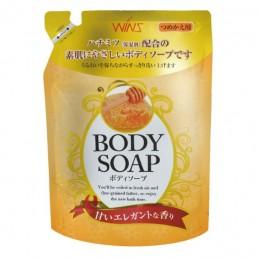 WINS BODY Увлажняющее крем-мыло для тела 400мл Мёд
