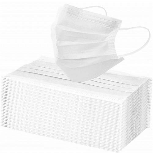 Маска трёхслойная гигиеническая 10шт Белая
