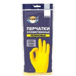 АВИОРА Перчатки хозяйственные резиновые 1пара L