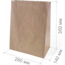 Пакет крафт 260х140х350мм без ручки (№15)