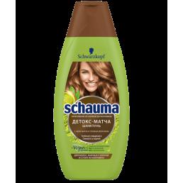 SCHAUMA Шампунь для волос жирных у корней и сухих на кончиках 380мл Детокс-Матча