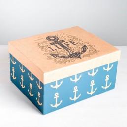 Складная коробка с крышкой 31.2х25.6х16.1см Морская арт 4757488