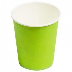 Стакан бумажный одноразовый 250мл д-80мм 50шт Зеленый