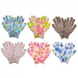 INBLOOM Перчатки садовые, полиэстер, 8 размер, 22см 1пара Цветные