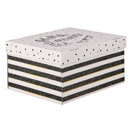 Складная коробка с крышкой 31.2х25.6х16.1см Дома можно все арт 3425497