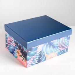 Складная коробка с крышкой 31.2х25.6х16.1см Tropical арт 4757484
