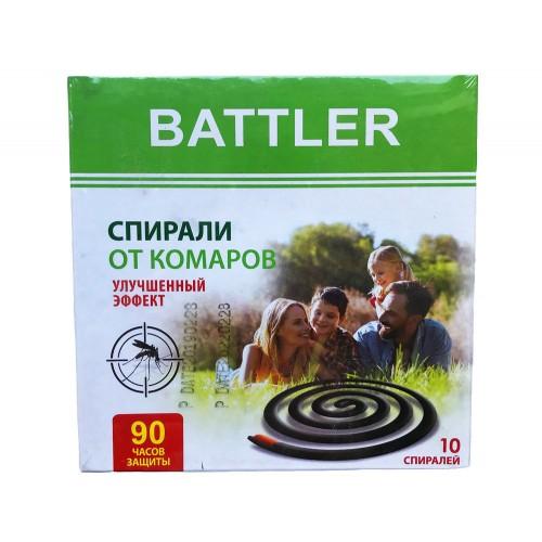 БАТЛЕР спирали от комаров 10шт Улучшенный эффект