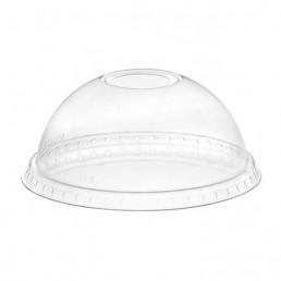 Крышка ПЭТ купольная прозрачная на стакан д-95 без отверстия