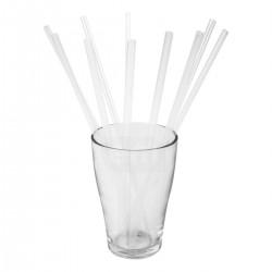 Трубочки для напитков 8х240мм, прямые, 250шт Прозрачные