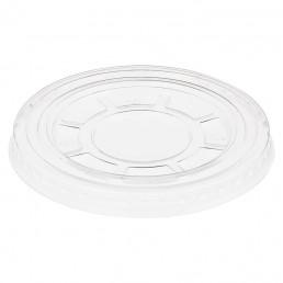 Крышка ПЭТ плоская прозрачная на стакан д-95 без отверстия