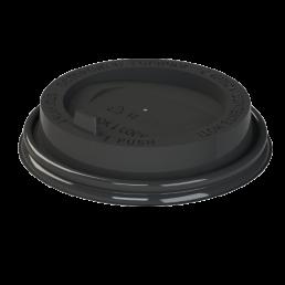 Крышка на бумажный стакан д-90 100шт Черные