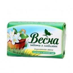 ВЕСНА мыло туалетное 90г жасмин и зеленый чай