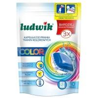 Ludwik гелевые капсулы для стирки цветных тканей 10шт