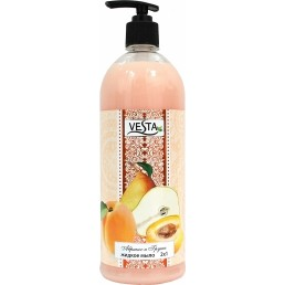 ВЕСТА жидкое мыло 1л абрикос и груша