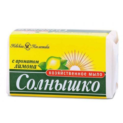 СОЛНЫШКО хозяйственнон мыло 140г лимон