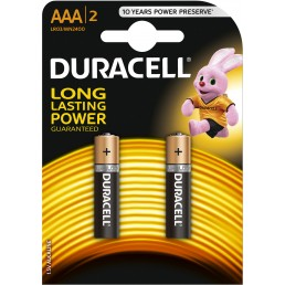 DURACELL Батарейки алкалиновые ААА 2шт