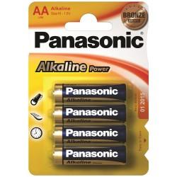 PANASONIC Батарейки алкалиновые АА 1.5V 4шт