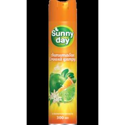 SUNNY DAY Освежитель воздуха 300мл Антитабак, сочный цитрус